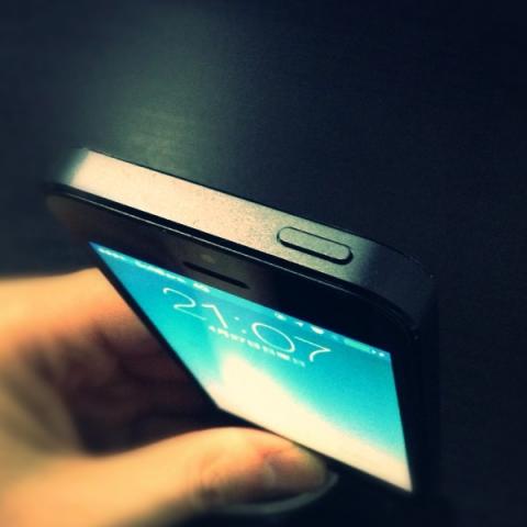 iphoneのスリープボタンの拡大イメージ