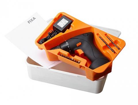 FIXA スクリュードライバー/ドリル、リチウムイオンバッテリー
