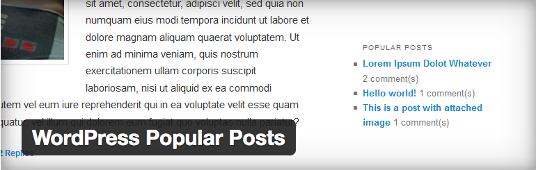 Wordpress Popular Postsプラグインのイメージ